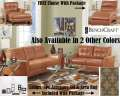 FREE Chaise W/This MetroModern 13PC Blended Leather Pkg Featuring Great Style At An Affordable Price