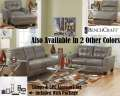 "HOT BUY; 12PC Blended Lthr Pkg In""Quarry"" Featuring Tufted Stylish Design & Matched Accent Pieces"