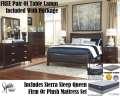 Ultimate Qn Size Bedroom Plus Mattress Pkg W/FREE Lamps, 7PC Chestnut Brown Bedroom & Mattress Set