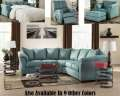 Bundle & Save W/4PC Darcy-Sky Sectional Pkg Featuring Sleek Contemporary Design & Choice Of 9 Colors