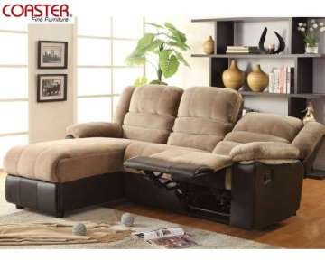 Great For Small Spaces: Ultra Soft Mocha Reclining Sofa Chaise Sectional