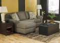 Reversible Sofa Chaise with Thick Seat Cushions & Ottoman Table W/Stg Cubes - Major Price Reduction