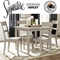 Best Value: Loratti 5-Piece Casual Dining Set Featuring a Gray Wash Finish
