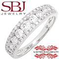 Jewelry Closeout - Women's 14K White Gold Diamond Channel Set Wedding Band *LIMITED AVAILABILITY*