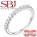 Jewelry Closeout - Women's Slim 14K White Gold Diamond Prong Wedding Band *LIMITED AVAILABILITY*