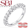 Jewelry Closeout - Women's 14K White Gold Diamond Prong Wedding Band - MAJOR PRICE REDUCTION