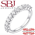 Jewelry Closeout - Women's 14K White Gold 1 CT T.W. Diamond Prong Wedding Band-MAJOR PRICE REDUCTION