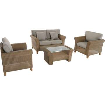 Bring a Beautiful, Stylish Lounging Experience to Your Backyard w/the Sea Breeze 4-PC Wicker Set