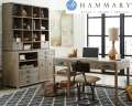 Sandalwood Finish 2-Piece Office Set Featuring 3-Drawers, 2-Shelves & Optional Credenza & Hutch