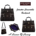 Henri Bendel Jetsetter Convertible Backpack- Available In Black With Gold Or Silver-Tone Hardware