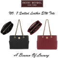 Henri Bendel No. 7 Quilted Leather E/W Tote - Available In Black Or Red