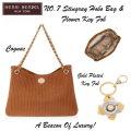 Henri Bendel NO.7 Stingray Hobo Bag And Gold Plated Flower Key Fob