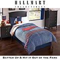 Home Run Youth Reversible Collection 5-Piece Twin Comforter Bedding Set