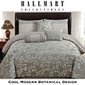 Platinum Leaves Adult Collection 7-Piece King Bedding Set