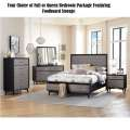 Choice of Full or Queen Bedroom Package w/Storage & Two Tone Barnwood Gray over Oak Finish