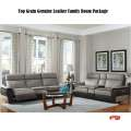 Top Grain Genuine Leather Package; Choice of Power Reclining Sofa or Loveseat w/Chair & Tables