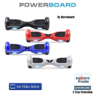 Powerboard by HOVERBOARD-2 Wheel Self Balancing Scooter w/LED Lights and 2 Year Warranty