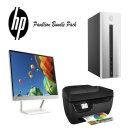 "HP Pavilion Desktop Computer Intel Core i3 Mini Tower, 22"" LED Monitor & Office AIO Printer"