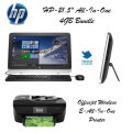 "HP-21.5"" All-In-One 4GB Bundle W/Officejet All-In-One Printer-Available In Black"