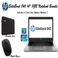 "HP EliteBook 840 G2 14"" Notebook-Intel Core i7 Bundle-Includes Carrying Case & Wireless Mouse"