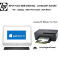HP 19.5 All-In-One 4GB Bundle W/Officejet Pro Inkjet Printer