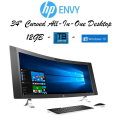"HP-ENVY 34"" Curved All-In-One Intel Core i5-12GB Memory-1TB Hard Drive- Available In Silver"