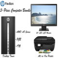 "HP Pavilion 8GB AMD Series Desktop Bundle W/ HP 20"" LED Monitor & HP Office Jet All-in-One  Printer"