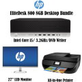 HP EliteDesk 8GB Intel Core i5 Desktop Computer Bundle With Monitor & Printer