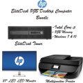 "EliteDesk Desktop 8GB Intel Core i5 Computer w/27"" LED Monitor & HP All-in-One Inkjet Printer"