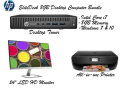"HP EliteDesk 8GB Intel Core i7 Desktop Computer Bundle W/24"" Monitor & HP Envy Printer"