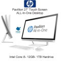 "HP - Pavilion 27"" Touch-Screen All-In-One- Intel Core i5 - 12GB Memory - 1TB Hard Drive -Silver"