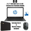 "HP 17.3"" 8GB Intel Core i3 Laptop Bundle With Case Logic Carrying Case & Wireless Mouse"