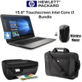 "HP 15.6"" Touchscreen Laptop 1.1GHz, 4GB DDR4-2400 Memory, Includes Wireless Mouse, Case & Printer"