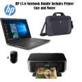 """HP 15.6"""" Touchscreen Intel Core i3  LCD Notebook, Wireless Mouse, Carrying Case & Printer"""
