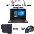 "HP OMEN 17.3"" 12GB Intel Core i7 Gaming Notebook Bundle With Gaming Mouse and Messenger Bag"