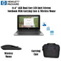 "HP 11.6"" 4GB LCD Touchscreen Chromebook with Carrying Case & Wireless Mouse"