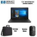 "HP 15.6"" LCD Notebook With 4GB Memory w/Dual-Core Processor, Includes Wireless Mouse & Carrying Case"