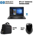 "HP Pavilion 15.6"" Touchscreen LCD Notebook Bundle w/ Wireless Mouse & Carrying Case"