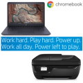 "Perfect for Doing Schoolwork at Home HP 14"" Chromebook Laptop & HP AIO Wireless Printer"