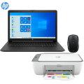 "HP 17.3"" Laptop Intel Core i5  8GB Mem 256GB SSD  Jet Black, HP Deskjet Wireless Printer and Mouse"