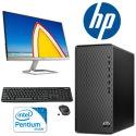 HP Desktop Bundle Featuring Intel Pentium Gold G6400, Monitor, Wireless Keyboard & Mouse