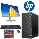 HP Desktop Bundle Featuring AMD Ryzen 5-Series Processor, Monitor, Wireless Keyboard & Mouse Includi