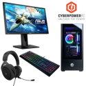 CyberPowerPC Gamer XTREME Gaming Desktop w/ Intel Core i5-10600KF, Monitor, Keyboard & Headset