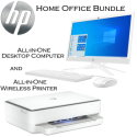 "HP 20.7"" All-In-One Desktop Computer with AMD A4 & 4GB Memory and ENVY Wireless All-In-One Inkjet Pr"
