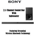 Sony 2.1 Channel Soundbar With Wireless Subwoofer & Bluetooth� Music Streaming