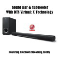 Yamaha Sound Bar Featuring DTS Virtual X Sound & Bluetooth Technology