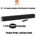 Vizio 2.0 Channel Soundbar Featuring Bluetooth Technology With 2 Year Geek Squad Coverage