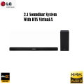 LG 2.1 Channel Hi-Res Sound Bar with DTS Virtual:X - Available In Black