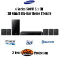 Samsung 4-Series 500W 5.1 Channel 3D Smart Blu-Ray Home Theatre System With 2YR Geek Squad Protectio