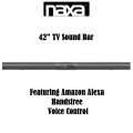 "42"" TV Sound Bar With Amazon Alexa Hands Free Voice Control"
